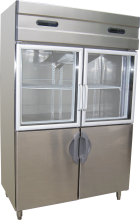 Fancor stainless steel dual temperature chiller freezer, 凡高不鏽鋼雙溫雪櫃,商用不鏽鋼雪櫃,Commercial Stainless steel chiller freezer