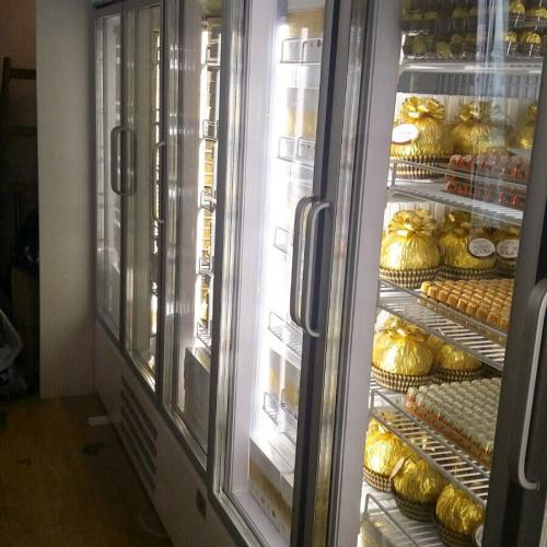 Ferrero Rocher use Fancor upright chiller to store giant ferrero rocher