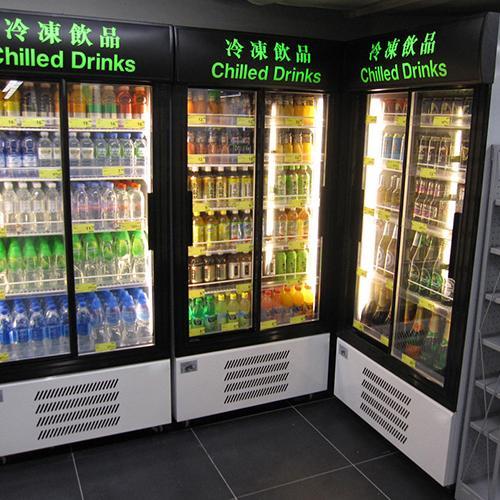 Fancor 直立式玻璃門冷凍展示櫃 chiller. Circle K