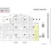 Restaurant and Bar Exhibition Hong Kong 2015 Floor plan, Fancor GE26 booth. 香港餐飲展平面圖2015, 凡高GE26展位